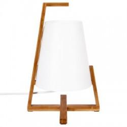 LAMPE BAMBOU GONG BLC H32cm