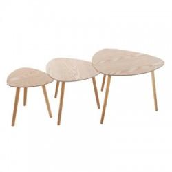 TABLE CAFE MILEO BOIS X3