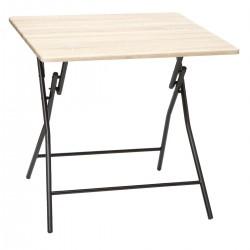 TABLE PLIANTE  80X80CM BOIS...