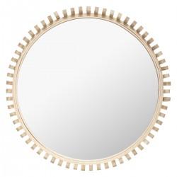 miroir cadre en bambou
