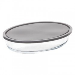 plat OVAL 30X 21 verre COUV