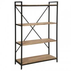 étagère industriel bois acacia et métal solide