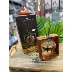 diffuseur de parfum en bois et verre patchouli