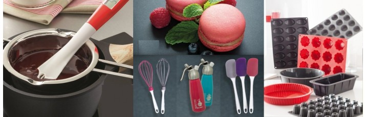 Vente accessoire de Pâtisserie pas cher – pinceau, Bol à mixer, poche à douille, fouet