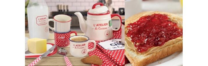 Vente Service Petit Déjeuner pas cher – théière, Cafetière piston, Bol, mug, Tasse, Thé, Café