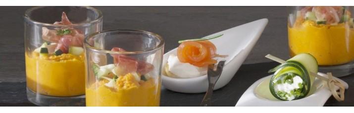 Vente coupelle apéro et Verrine pas cher – Verrine conique Carrée, arrondie, coupelle apéritif