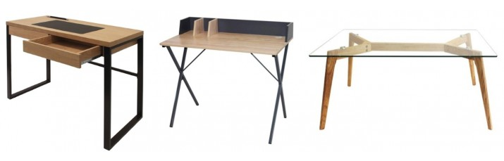 Vente Table et Bureau pas cher – Table scandinave en verre trempé, table cuisine et salon, Bureau