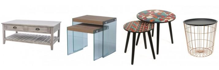 Vente Table Basse pas cher – Table basse métal Filaire, Table basse scandinave gigogne