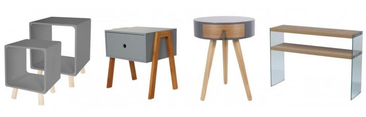 Vente Table de chevet pas cher – Console en bois ou en verre, Chevet design ou retro