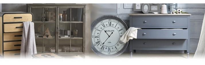 Vente Commode pas cher – Buffet à tiroir en métal, Chiffonnier à casier industriel, commode en bois
